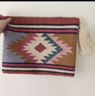 Bershka clutch bag vintage colourful