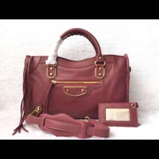 "Ready Balenciaga maroon size 30"" and 38"""