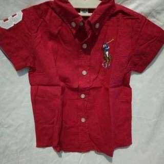 Baju POLO anak red