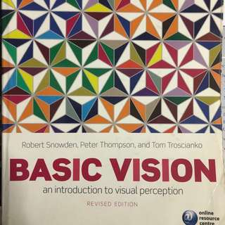 BASIC VISION BY SNOWDEN, THOMPSON & TROSCIANKO ORIGINAL TB UOW