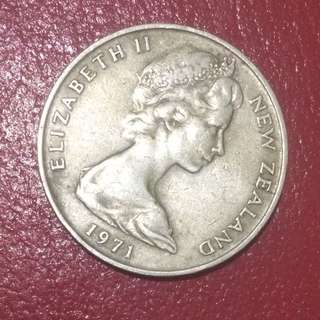 Coin New Zealand 1971