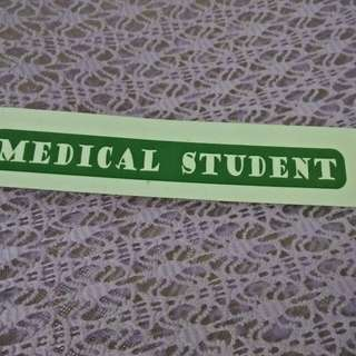 Sticker Medical Student