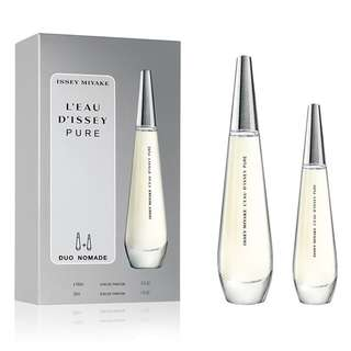 ISSEY MIYAKE L'EAU D'ISSEY PURE DUO NOMADE EDP FOR WOMEN (90ml+30ml) Leau Dissey Gift Set