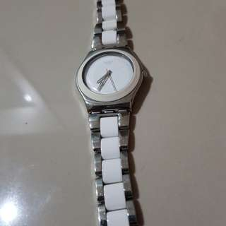Swatch white 100% ori