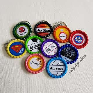 Personalized Gifts @ Bottle Cap keychain (reserved)