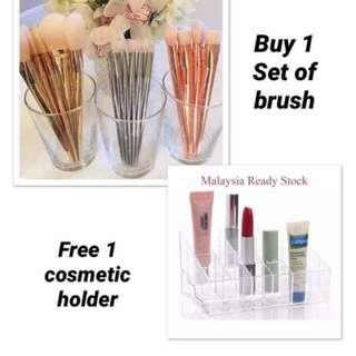 Rose Gold 7Pcs Brush Set