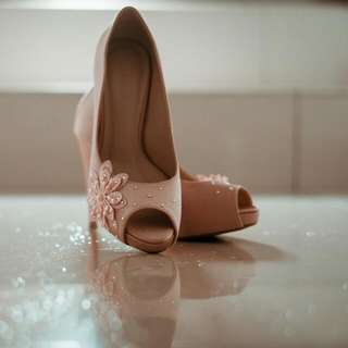 Ivory Pink Christy Ng Bridal Shoes