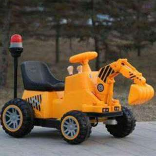 Mini Backhoe LS 888 Motor Ride On Toy Car Motorcycle Style for Kids
