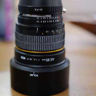 Samyang 85mm f1.4 + fuji xmount adapter