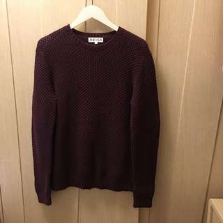 Reiss purple red knitted sweater 💓