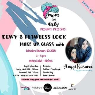 Dewy and Flawless Make Up Class Bintaro