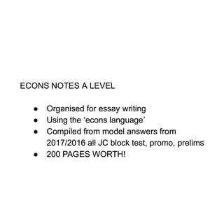 ECONS/economics A LEVEL NOTES H2