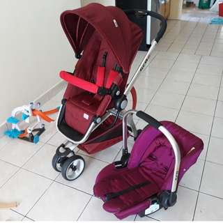 Used SCR6 Traveling Set stroller and car seat