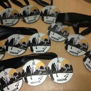 Acrylic plaque and trophy / medals / podium