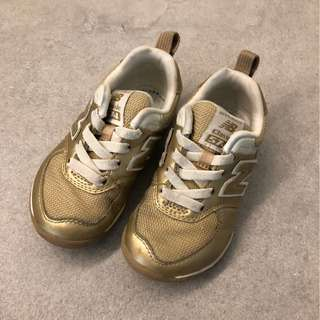 New Balance Gold White Kids Running Shoes