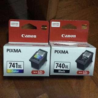 Canon ink cartridge (740xl, 741xl)