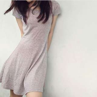 Simple Grey Skater Dress