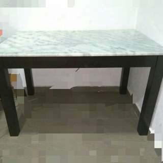 Rectangular Marble Table+ 4 pcsMarble Chairs