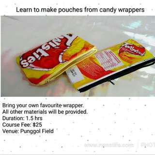 Candy Wrapper pouches