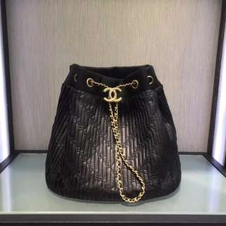 Chanel Coco Pleats Drawstring Bag
