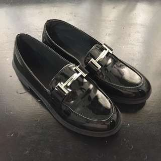 Black Loafers size 8