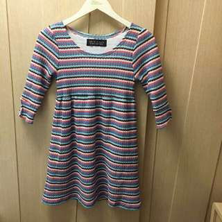 Iris club rainbow stripe dress/ long top 🌈