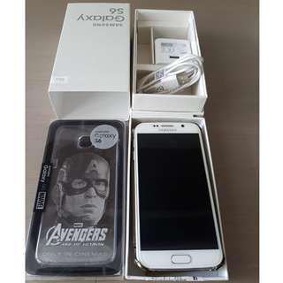 New Condition Samsung Galaxy S6 32 GB Pearl White