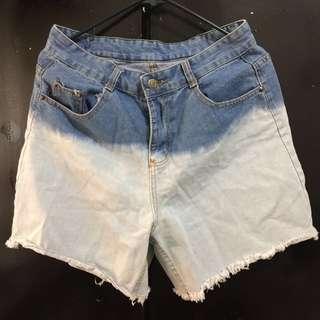 Women's Denim Ombré Shorts L