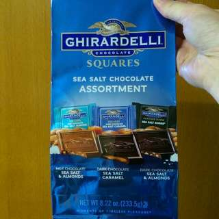 GHIRARDELLI 雜錦海鹽朱古力 sea salt chocolate assortment (net weight 233.5g)