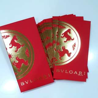 (SOLD) 2018 One Box 10 Pcs Bvlgari Roma Red Packets