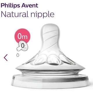 Philips Avent Natural Nipple / Teat (0m)