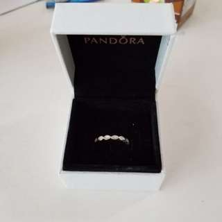 Pandora幼身白色介指,size 48,有盒,$100