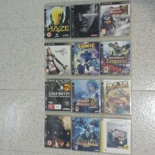 Authentic BlueRay PS3 Games, in good condition