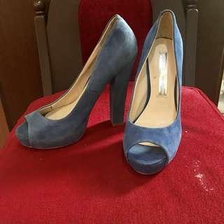Wayne cooper Blue suede shoes