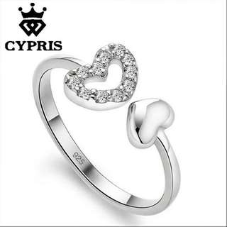 Double Love Ring Adjust
