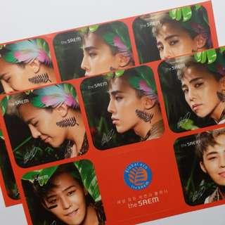 BIGBANG GDragon The Saem 絕版週邊貼紙