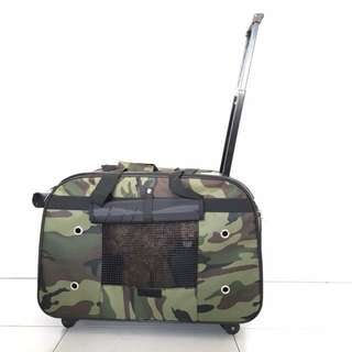 [INSTOCK] Pet camo travel bag dog cat carrier luggage puppy kitty rabbit