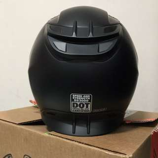 Speed and Strength SS3000 Solid Speed Helmet (Matte Black) Size M