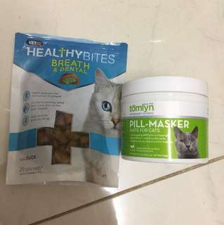 Moving house sale ! Tomlyn pill masker and veto's healthy bites