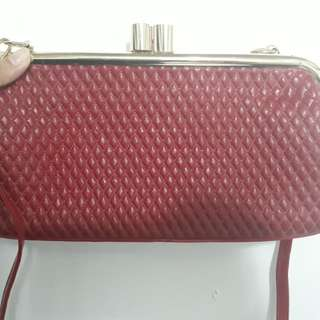Red Clutch/Sling Bag