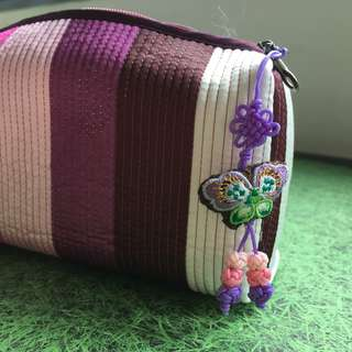 BN Korean pencil/marker case in purple and pink hues