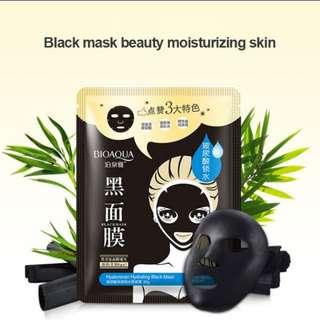 Black Hydration Face Mask