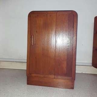 vintage mid century Art Deco Burmese teak teakwood cabinet