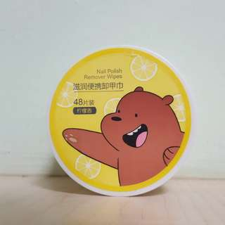 Miniso X We Bare Bears Grizzly Nail Polish Wipes