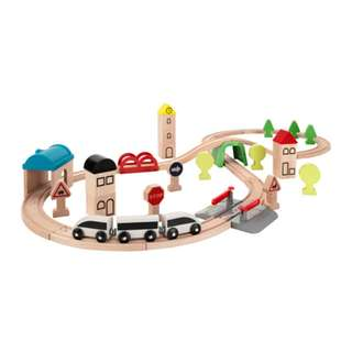 [IKEA] LILLABO 45-piece train set with rail