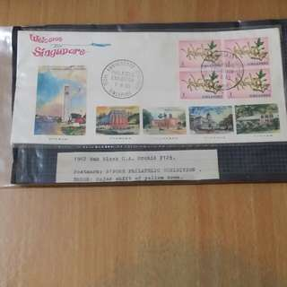 4 stamps first day cover