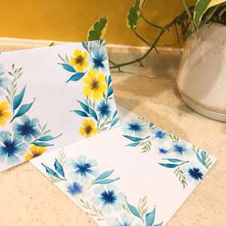 Bespoke Loose Floral Handmade Cards and Envelopes