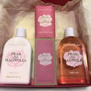 Crabtree & Evelyn Bath Lotion Eu de Toilette Soap Set