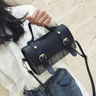 新款潮韓版時尚格子小包chic斜挎包少女百搭手提 兩用單肩袋 手袋