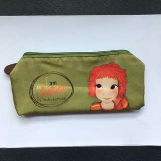 BN Youk Shim Won olive green pencil/marker case (Korean)